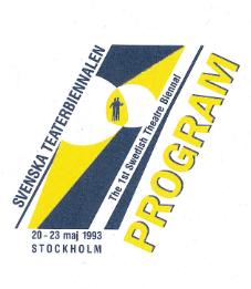 Den första teaterbiennalen hålls i Stockholm 20-23 maj